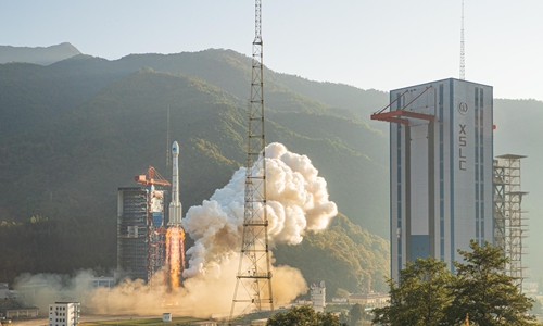 New commercial satellite launched in north China