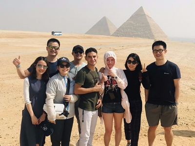Speaking Chinese changes lives of Egyptian tour guides