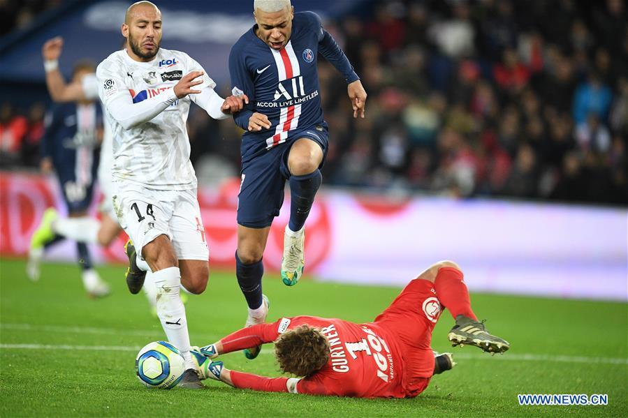 French Ligue 1 match: Paris Saint-Germain vs. Amiens