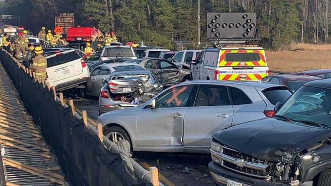 Police: 69-vehicle pileup in Virginia leaves dozens injured