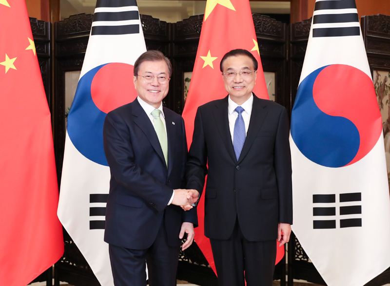 Premier Li meets ROK president on cooperation