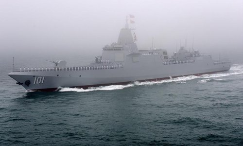 China's 10,000 ton-class destroyer equipped with long-range land-attack missiles
