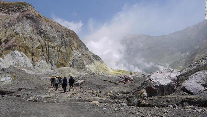 New Zealand police suspend volcano body search