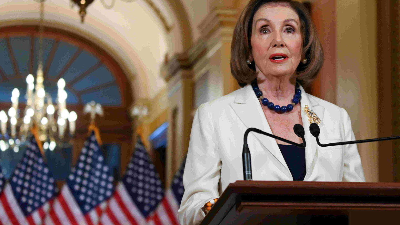 US House speaker, Senate leader spar over Trump trial