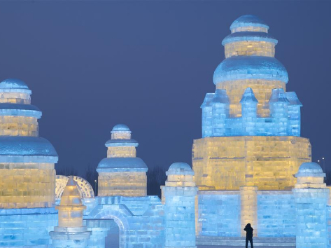 Tourists visit 21st edition of Ice-Snow World in Harbin