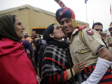 Attestation-cum-passing out parade held in Vijaypur, Indian-controlled Kashmir