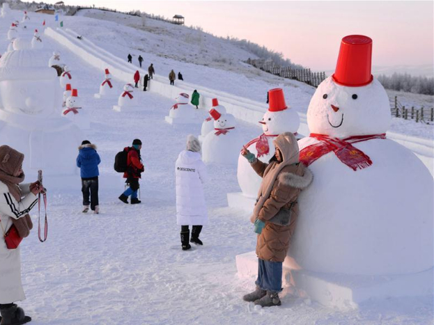 Snow park in north China's Inner Mongolia