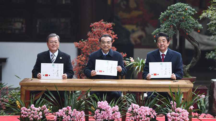 Leaders from China, ROK and Japan mark 20th anniversary of trilateral cooperation