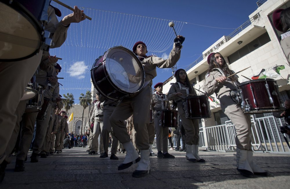 Thousands mark Christmas in West Bank town of Bethlehem