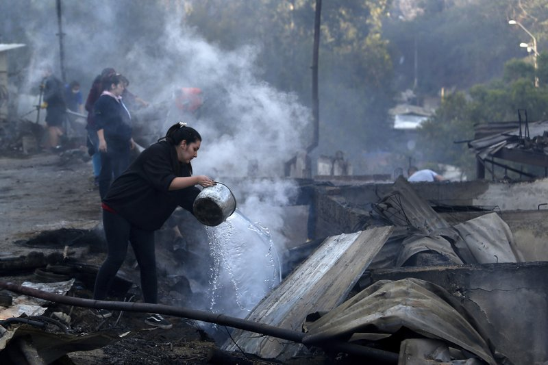 245 houses affected by Chilean coastal city fire