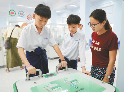 China mobile sci-tech museum holds exhibitions in Myanmar