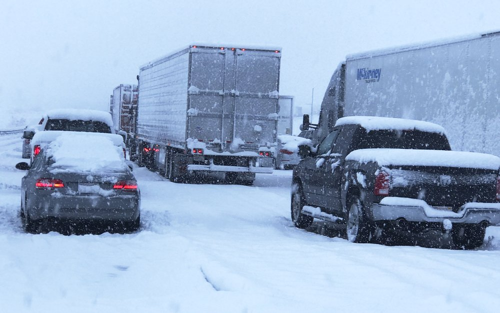 Powerful storm pounds Southern California with rain, snow