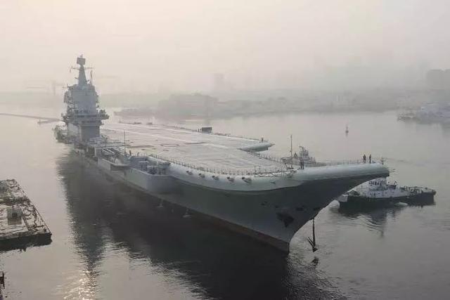 China's first self-made aircraft carrier sails through Taiwan Strait