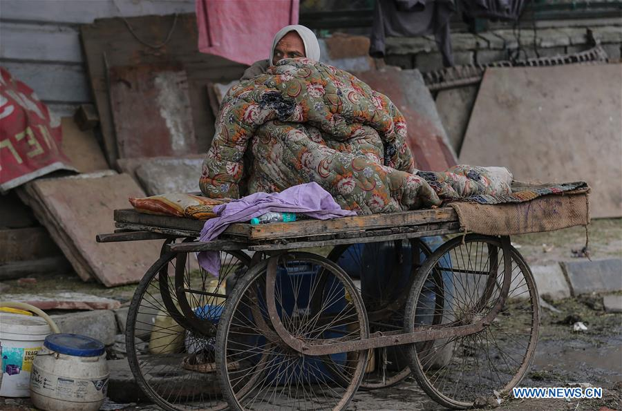 In pics: cold morning in New Delhi, India