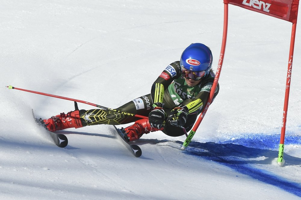 Leaving it late: Shiffrin wins GS after nearly missing start