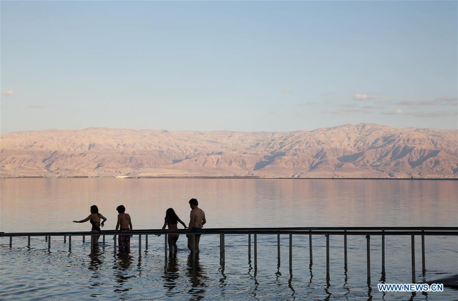In pics: view of Dead Sea near Neve Zohar resort, Israel