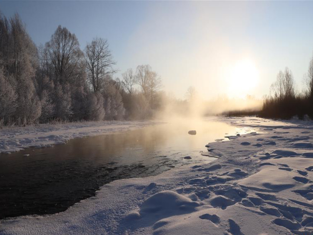 Scenery of 'China's coldest town' in NE Heilongjiang