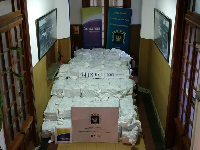 Uruguay seizes record haul of cocaine