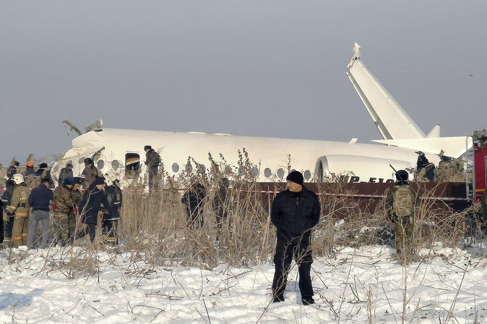Kazakh officials investigating causes of deadly plane crash
