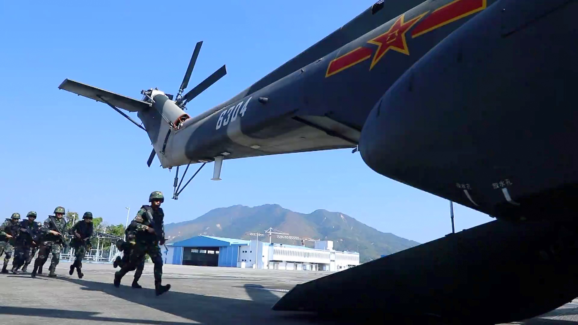 PLA garrison in Hong Kong releases video of air, sea exercises