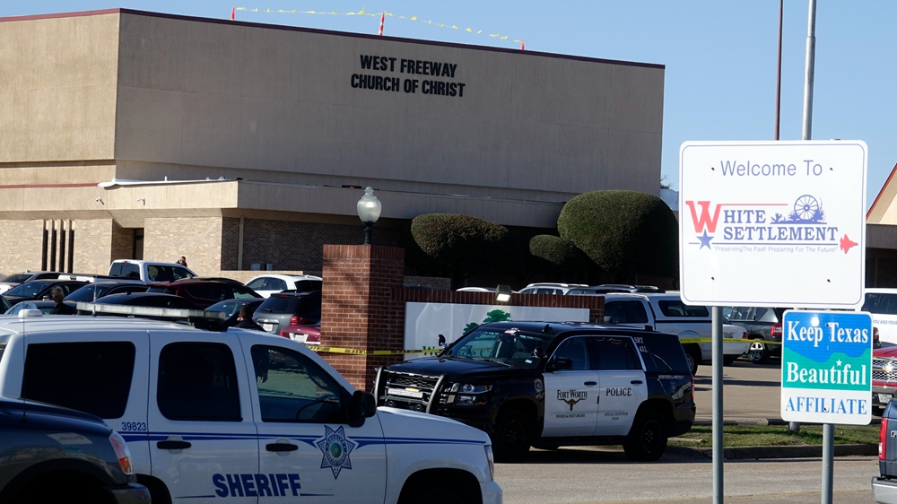 Two people including gunman shot dead in Texas church