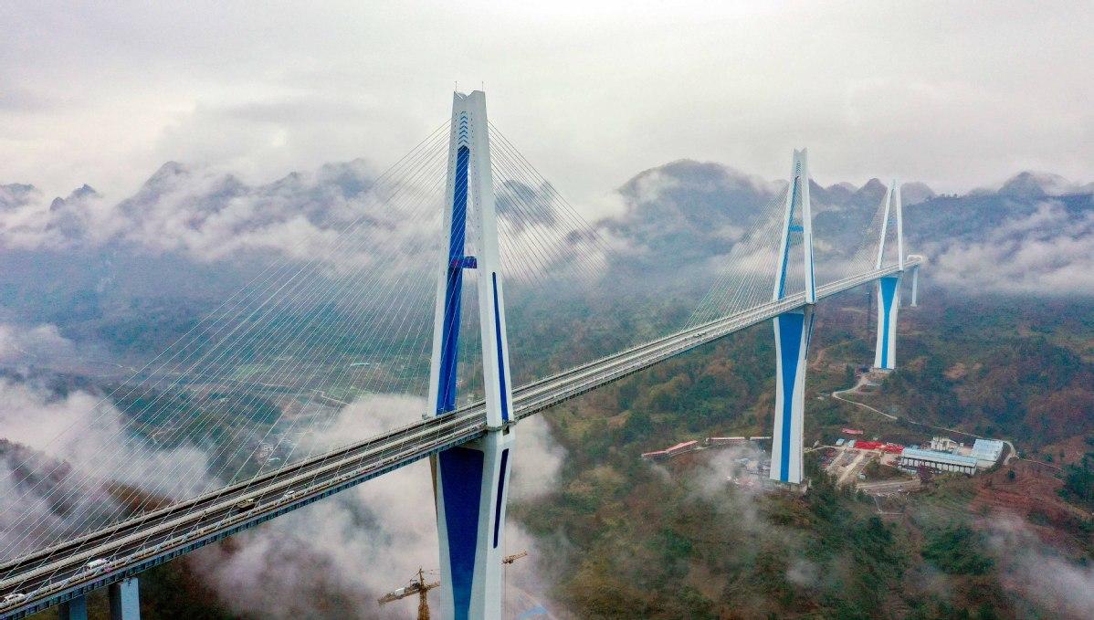 Bridge tower as tall as 110-story skyscraper