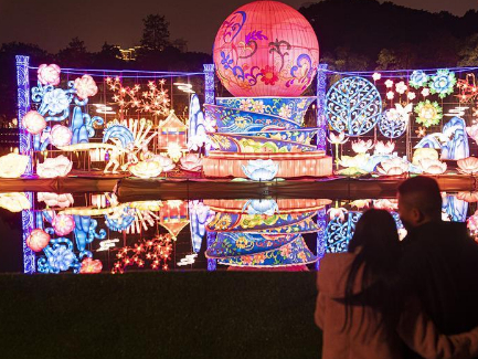 6th East Lake Lantern Show held in central China's Wuhan