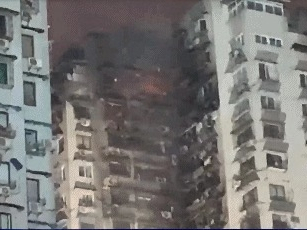 260 evacuated in building fire in SW China