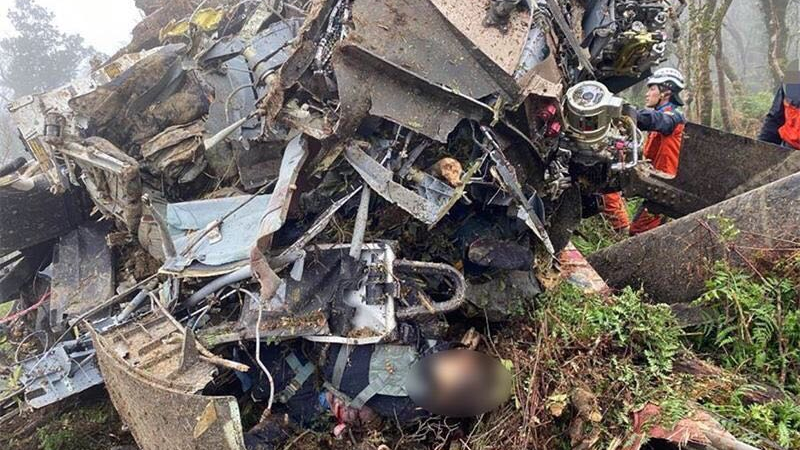 Eight killed in military helicopter crash in Taiwan