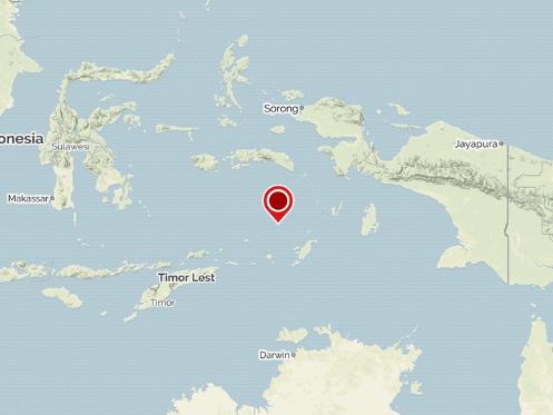 5.5-magnitude quake hits off central Indonesia