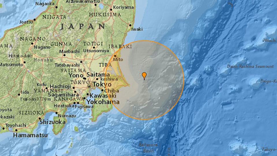 5.9-magnitude quake strikes off Japan's Chiba Prefecture