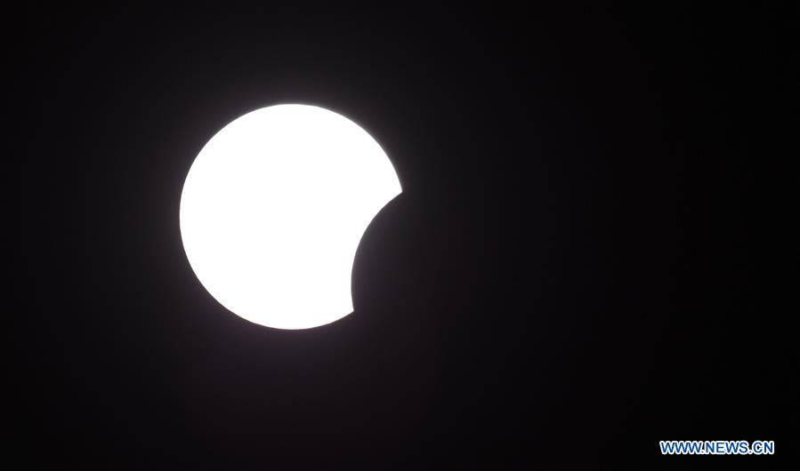 Partial solar eclipse witnessed in Haikou, China's Hainan