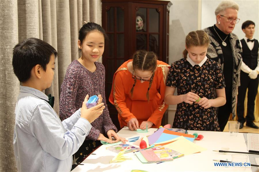 Children experience Chinese traditional culture in Tallinn, Estonia