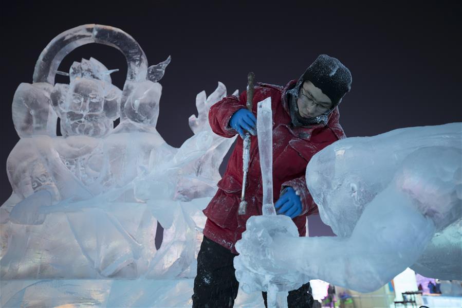 Highlights of ice sculpture championship in Harbin, NE China