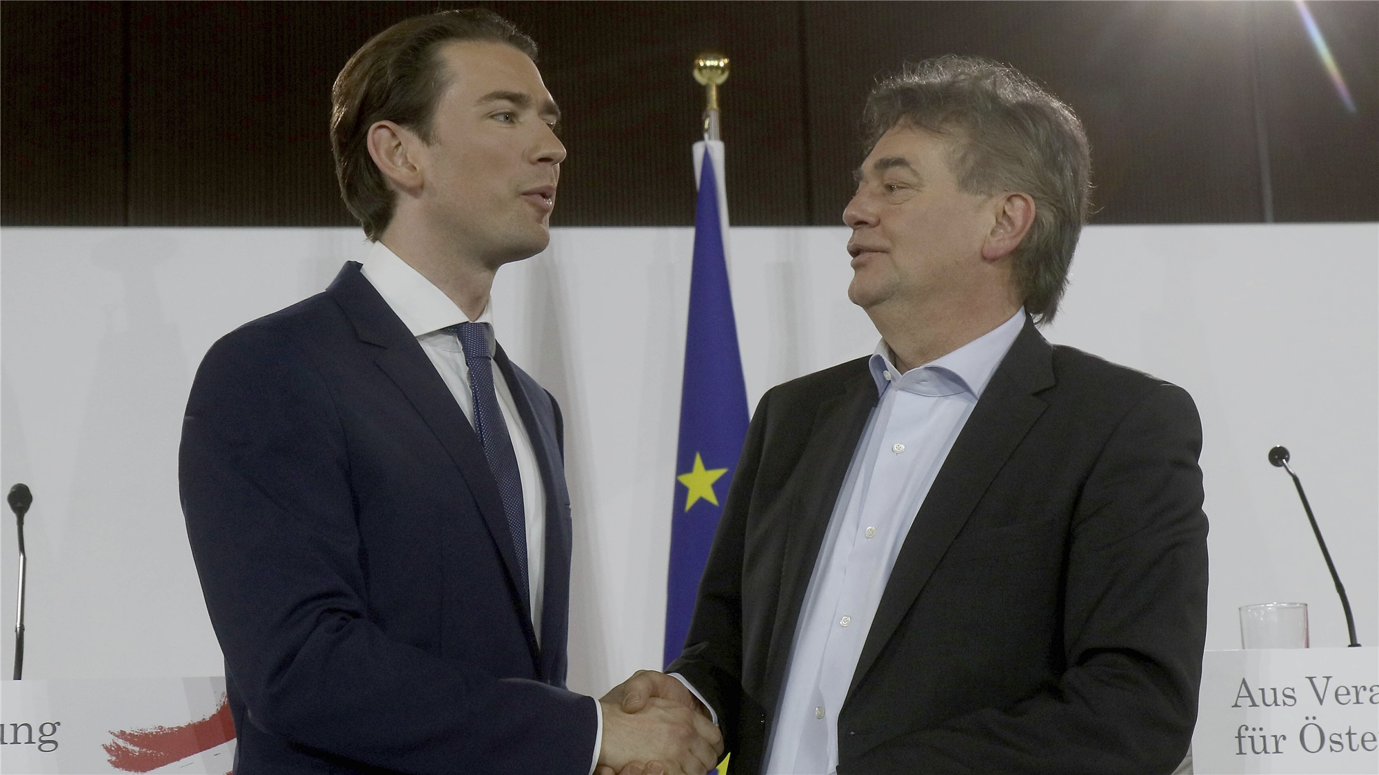Austria's Conservative party and the Greens form new coalition government