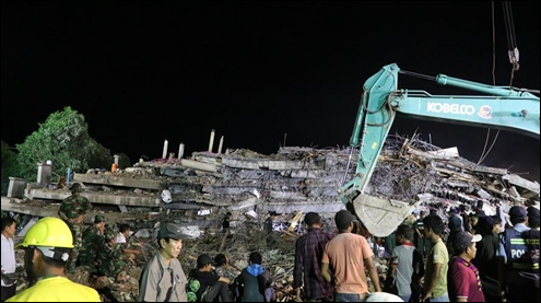 6 die, 16 injured after under-construction building collapses in SW Cambodia