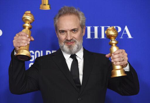 Sam Mendes wins Golden Globe for best director for '1917'