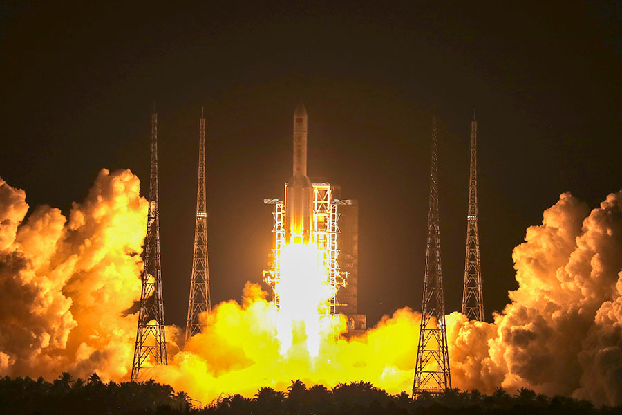 China's heaviest satellite positioned in geosynchronous orbit