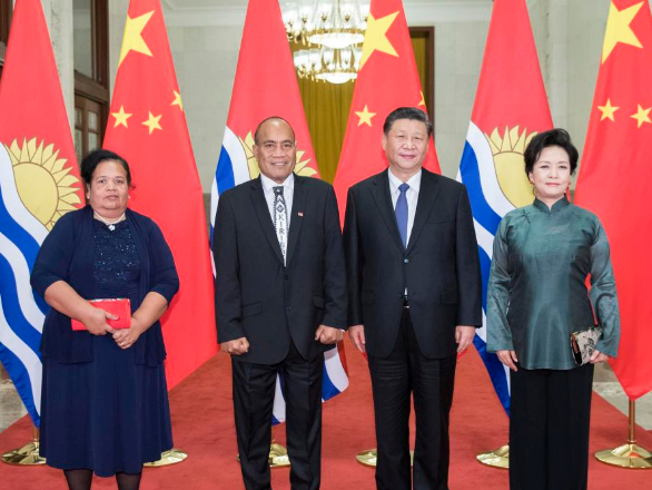 Xi says Kiribati stands on the right side of history