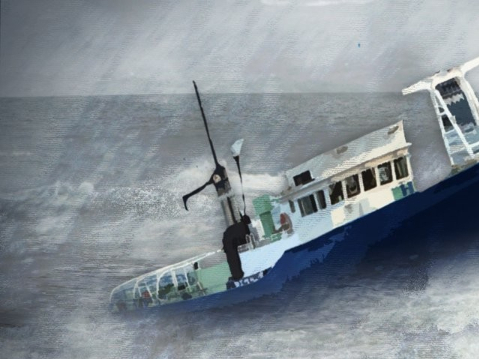 1 dead, 13 rescued in S.Korea's fishing boat overturn accident