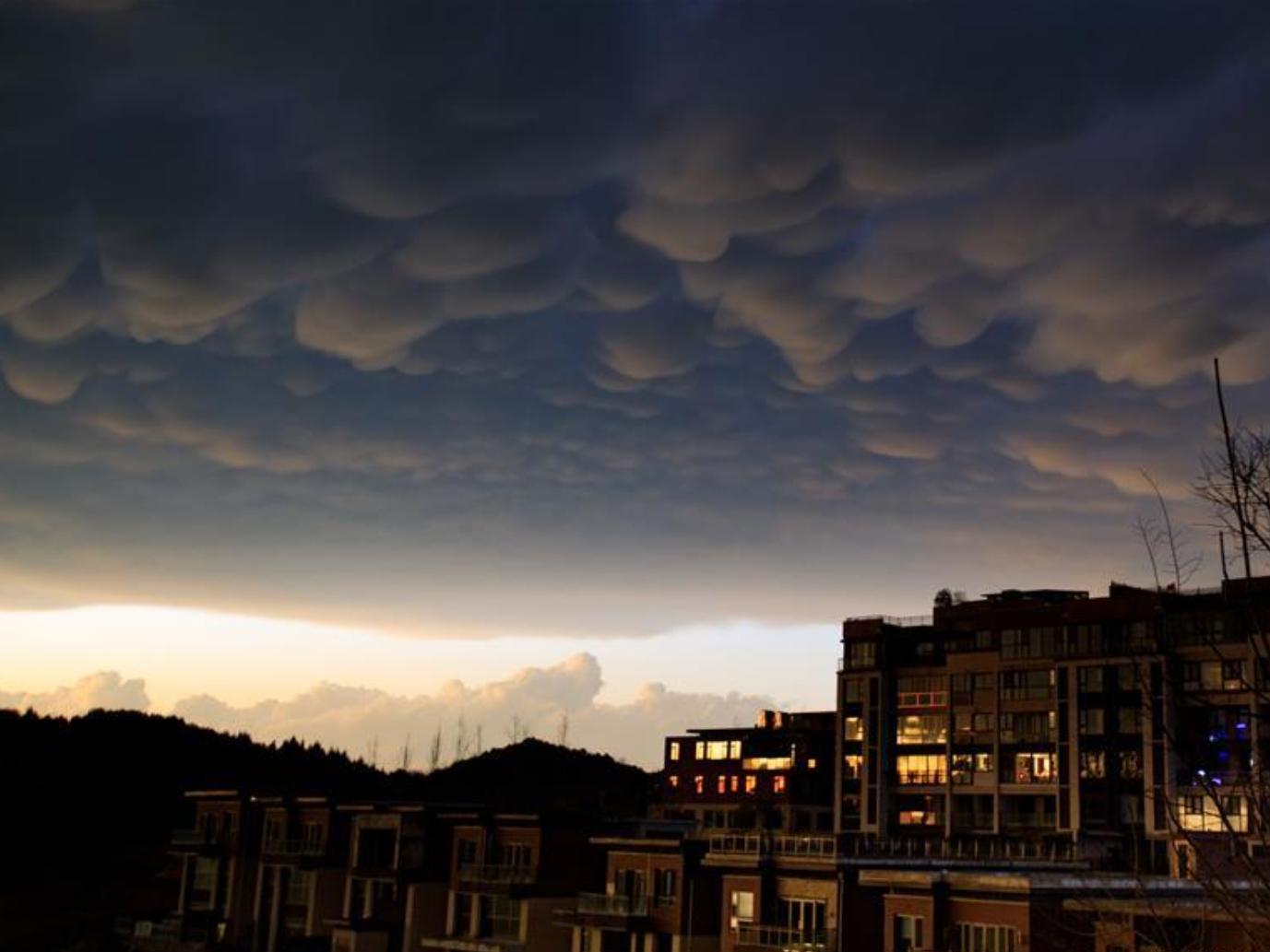 In pics: Mammatus clouds over Guiyang