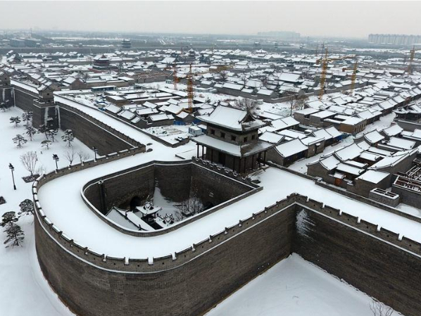 Snow scenery of Taiyuan Ancient County