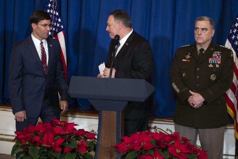 US Defense Secretary Esper says no decision to leave Iraq