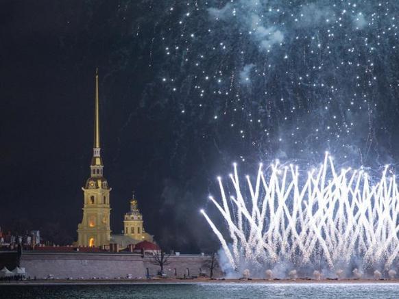 Orthodox Christmas celebrations held in St. Petersburg, Russia