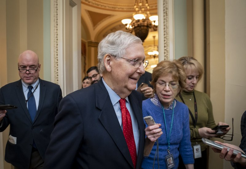 McConnell can start impeachment trial, delay on witnesses