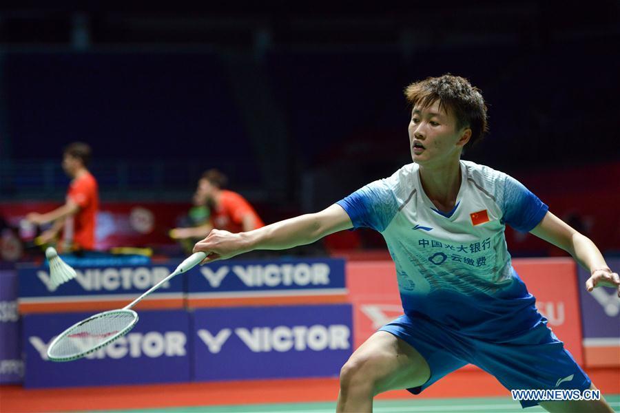 Women's singles 2nd round match at Malaysia Masters 2020: China vs.Thailand