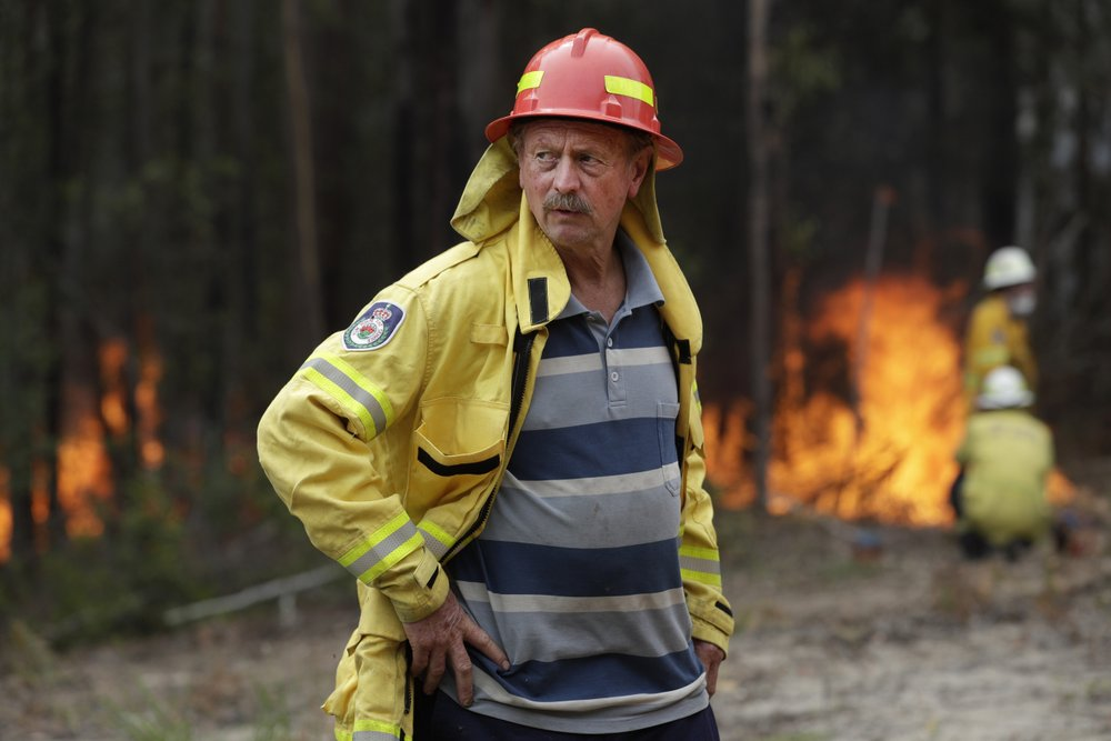 Aussie has spent 53 years fighting fires, including his own