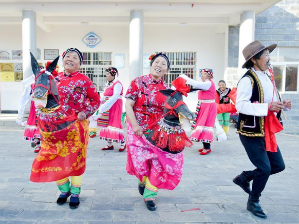 Villagers rehearse for gala in celebration of upcoming Chinese Lunar New Year