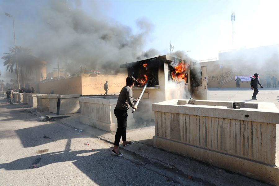 2 rockets land near US embassy in Baghdad