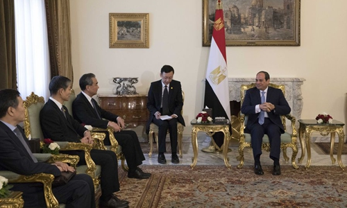 Chinese FM calls for promoting China-Egypt strategic partnership to higher level